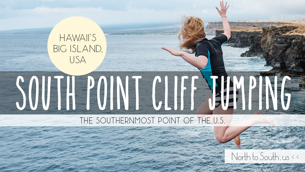 Cliff Jumping at South Point (Big Island, Hawaii, USA)